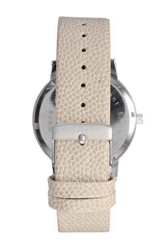 mondaine relógio minimalista texturizado cinza