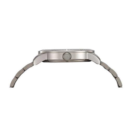 mondaine relógio pulseira em aço prata