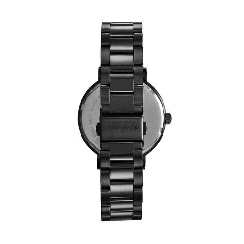 mondaine relógio resinado preto