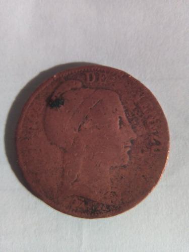 moneda 1 centavo - monaguero de 1852