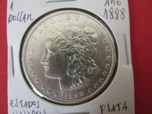 moneda 1 dollar morgan estados unidos de plata año 1888