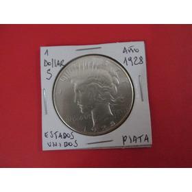 Moneda 1 Dollar Peace De Plata Estados Unidos Año 1928