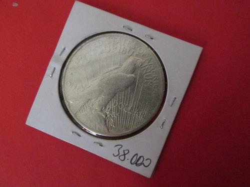 moneda 1 dollar peace estados unidos de plata año 1922