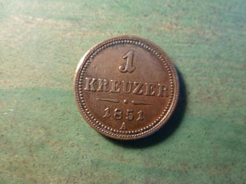 moneda 1 kreuzer 1851 - vp