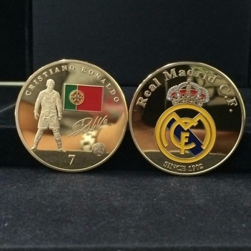 moneda 1 onza cristiano ronaldo real madrid portugal