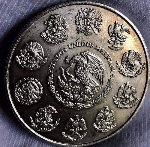 moneda 1 oz méxico 2002  plata l .999 excelente envió gratis