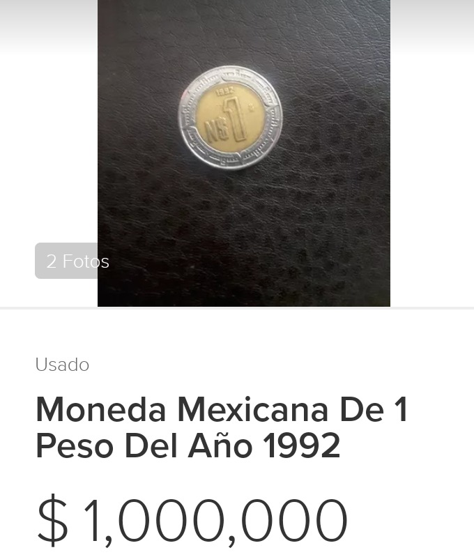 Moneda 1 Peso Mexicano Con Valor De