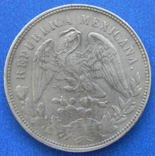 moneda 1 peso mexico 1904 a m excelente condicion plata