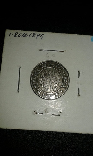 moneda 1 real año 1849 costa rica  buen estado.