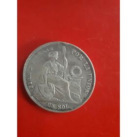 Moneda 1 Sol De 1872 - 9 Decimos Fino.