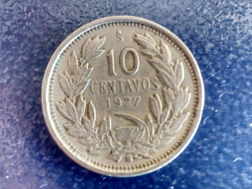 moneda 10 centavos 1927 chile  (101ch