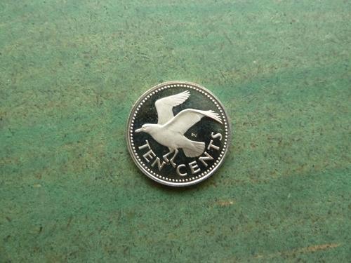 moneda 10 centavos 1977 barbados - vp