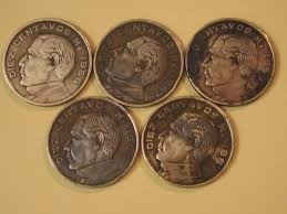 moneda 10 centavos benito juárez,