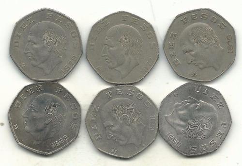 moneda 10 pesos 1982  acabado proof muy escasa solo 150pcs