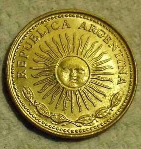 moneda 10 pesos, argentina 1978.