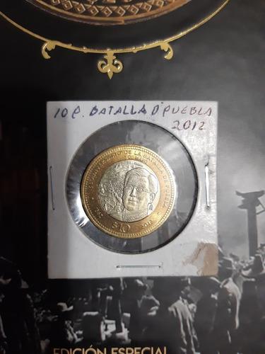 moneda $10 pesos batalla de puebla