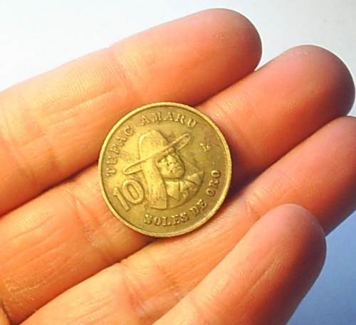 moneda 10 soles, 1978, perú.