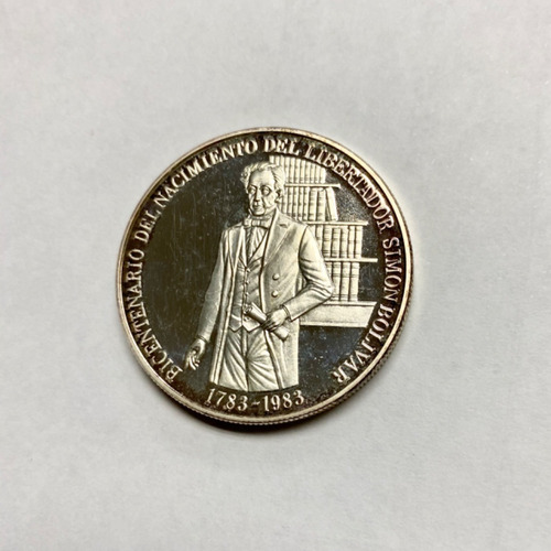 moneda 100 bs. bicentenario bolivar ley 900. 31.10 grms leer