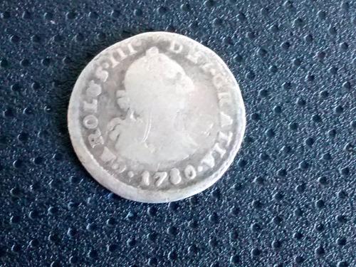 moneda 1/2 real carolus ceca lima 1780 (1005z
