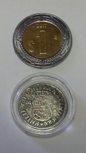 moneda 1\2 real philip v