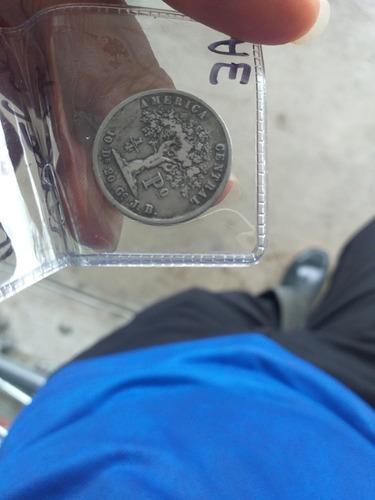 moneda 1/4 de peso costa rica 1850 muy buen estado.