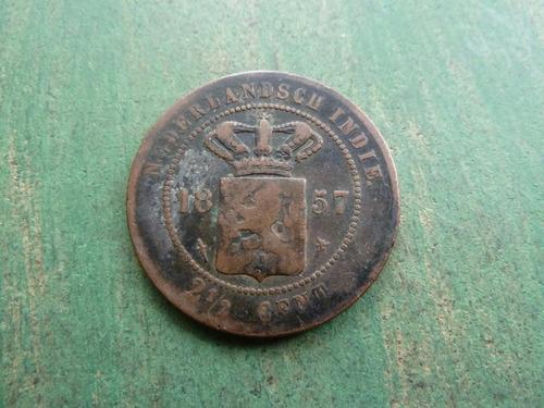 moneda 2 1/2 centavos paises bajos 1857 - vp
