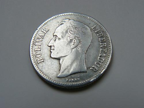 moneda 2 bolívares - año 1935 - 10 gram - plata lei 835