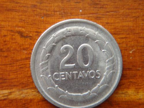 moneda 20 centavos 1968