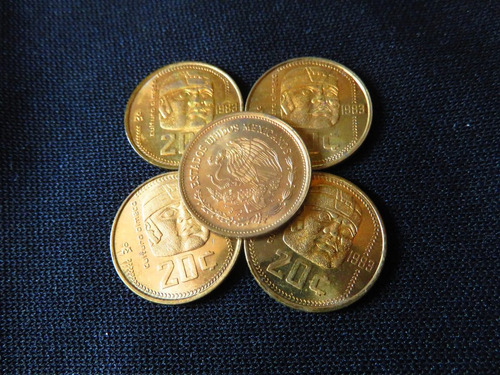 moneda 20 centavos olmeca 1983 brillo natural