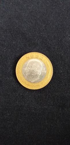moneda 20 nuevos pesos hidalgo, centro de plata