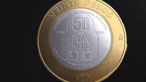 moneda 20 pesos 50 aniversario plan dn 3 ill