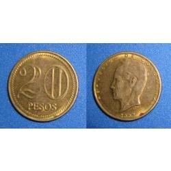 moneda 20 pesos colombia pequeña oferta