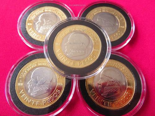 moneda 20 pesos morelos 2015 capsula premium