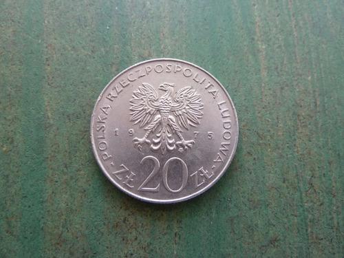 moneda 20 zlotych polonia 1975 - vp