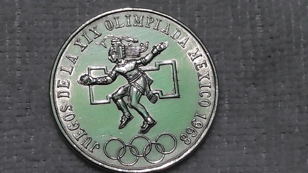 Moneda 25 Pesos Plata Juegos Olimpicos Mexico 1968 399 00 En
