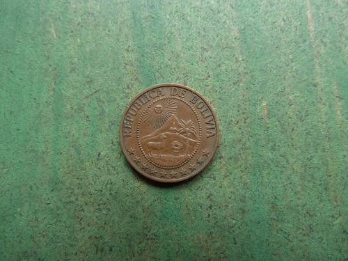 moneda 5 centavos bolivia 1965 - vp