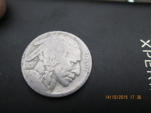 moneda 5 centavos bufalo cabeza de indio usa plata