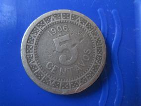 Calendario 1906.Moneda 5 Centavos Calendario 1906