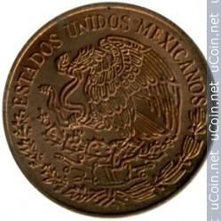 moneda 5 centavos, mexico, 1973.