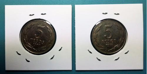 moneda 5 pesos chile - 1977 - 1978 / km#209