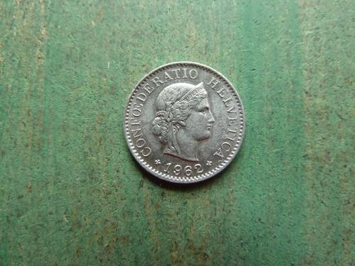 moneda 5 rappen 1962 suiza - vp