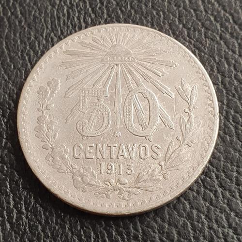 moneda 50 centavos 1913 ley 0.800