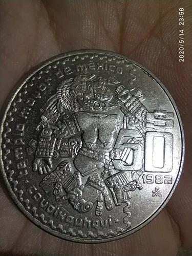 moneda 50 pesos mexicanos 1982