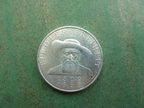 moneda 50 schilling 1959 plata 20 gramos  - vp