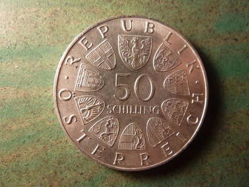 moneda 50 schilling 1967 austria plata - vp