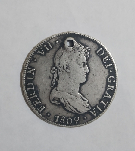 moneda 8 reales 1809