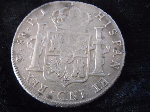 moneda 8 reales fernando 7 de plata  potosi  1813 p.j