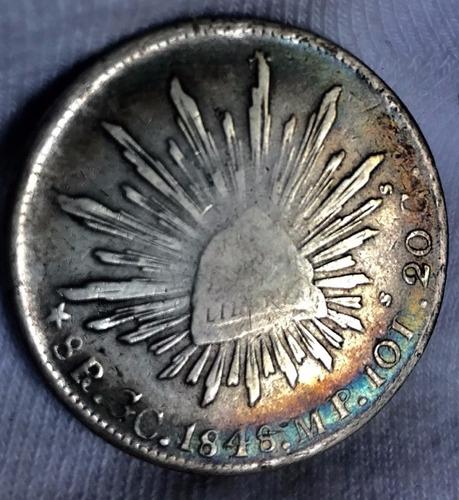 moneda 8 reales guadalupe y calvo 1848 m p  muy escasa
