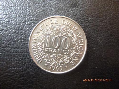 moneda africa occidental 100 francs 1969 (340z