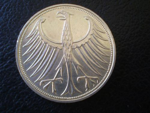 moneda alemania 5 marcos de plata 1971 (995z